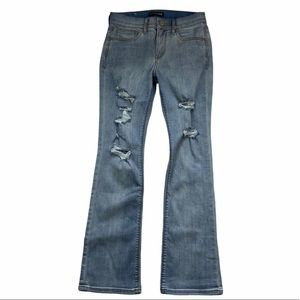 Express   Barley Boot Cut Mid Rise Jeans